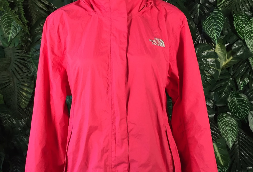 Pink North Face jacket with concealed hood (XL)