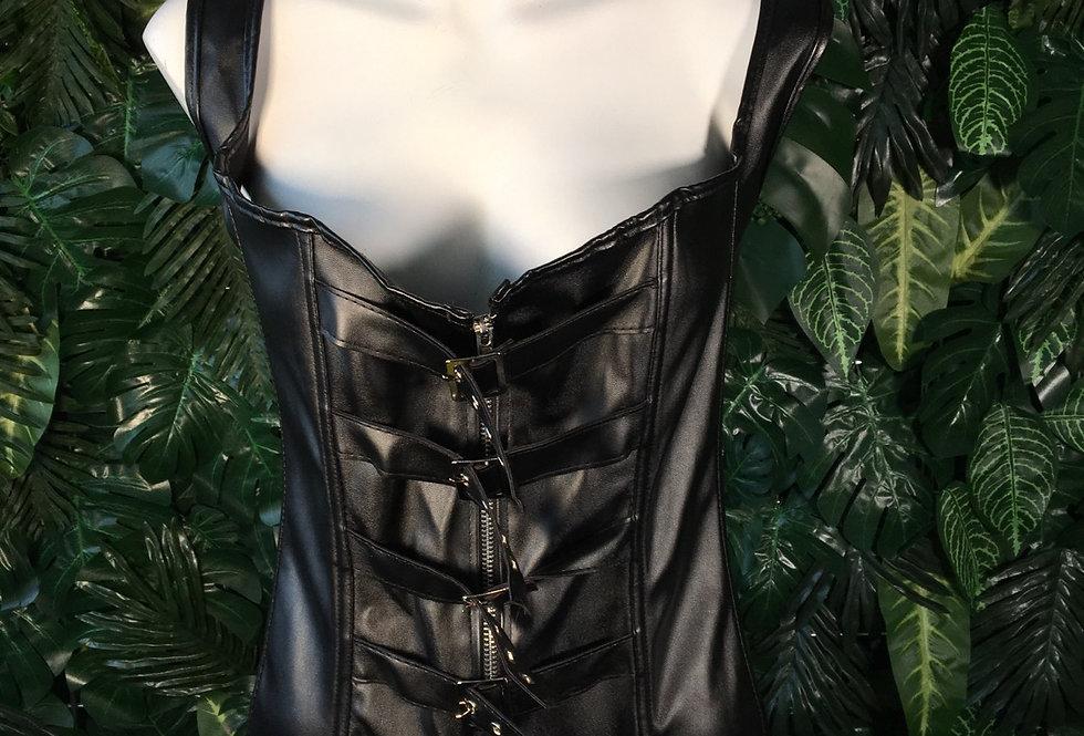 Black buckled corset