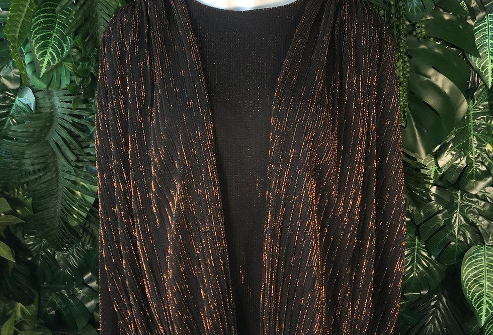 Black & copper shimmer blouse (size 12)