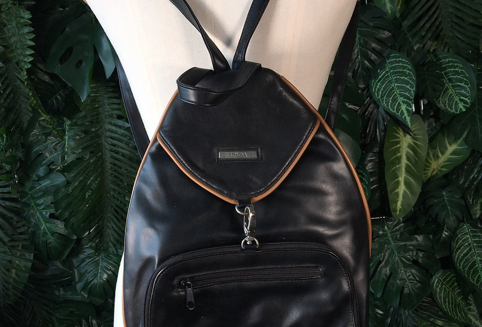 Simona leather backpack
