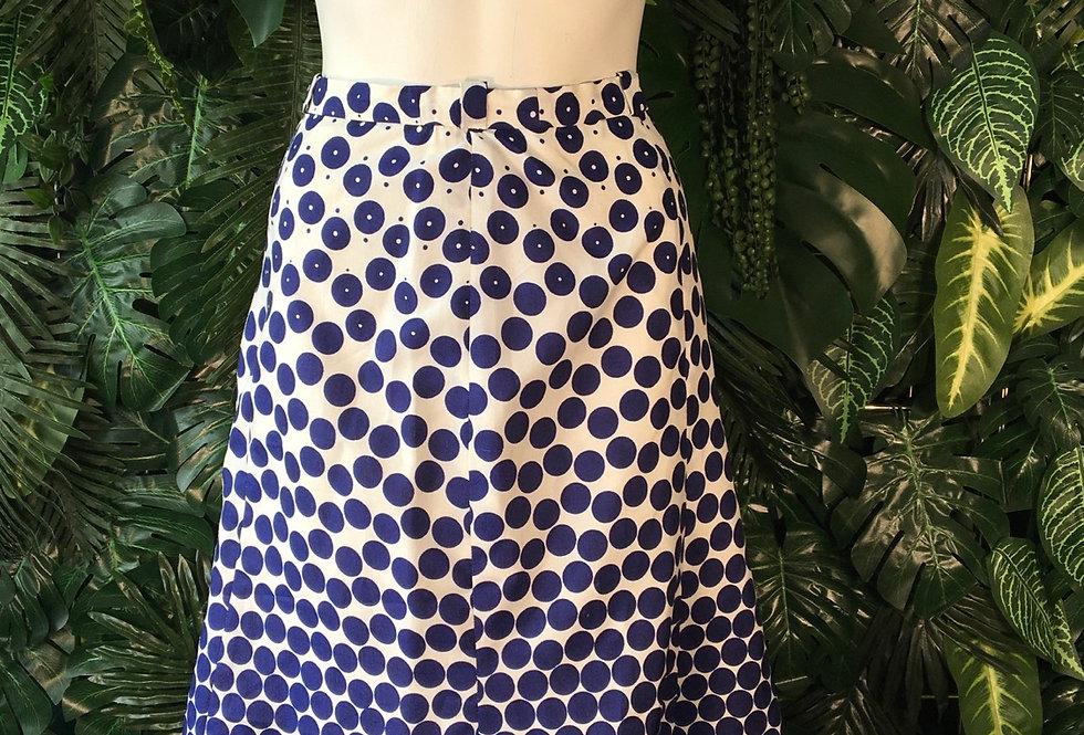 60s print skirt (size 10)