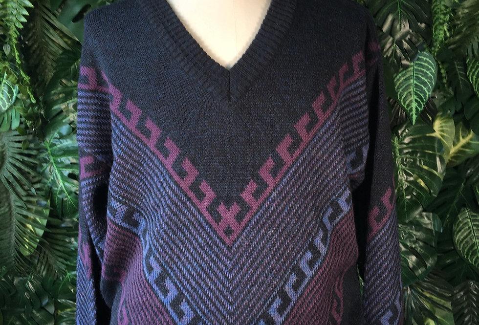 90s v neck knit (XL)