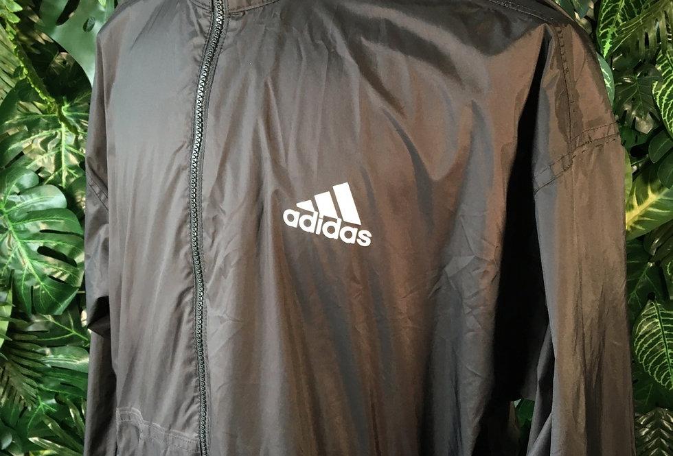 Adidas rain jacket with foldaway hood (M)