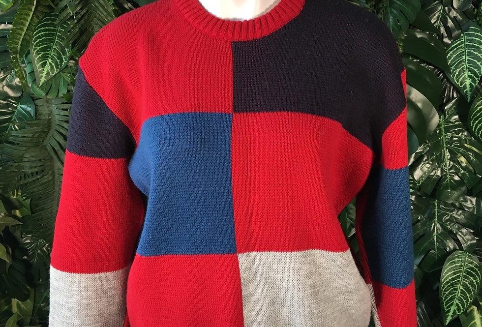 Colour block knit (M)