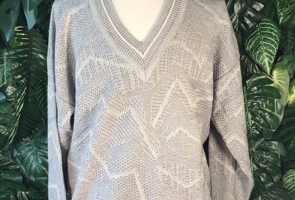 90s V neck knit (L)