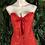 Thumbnail: Red brocade steel bones corset