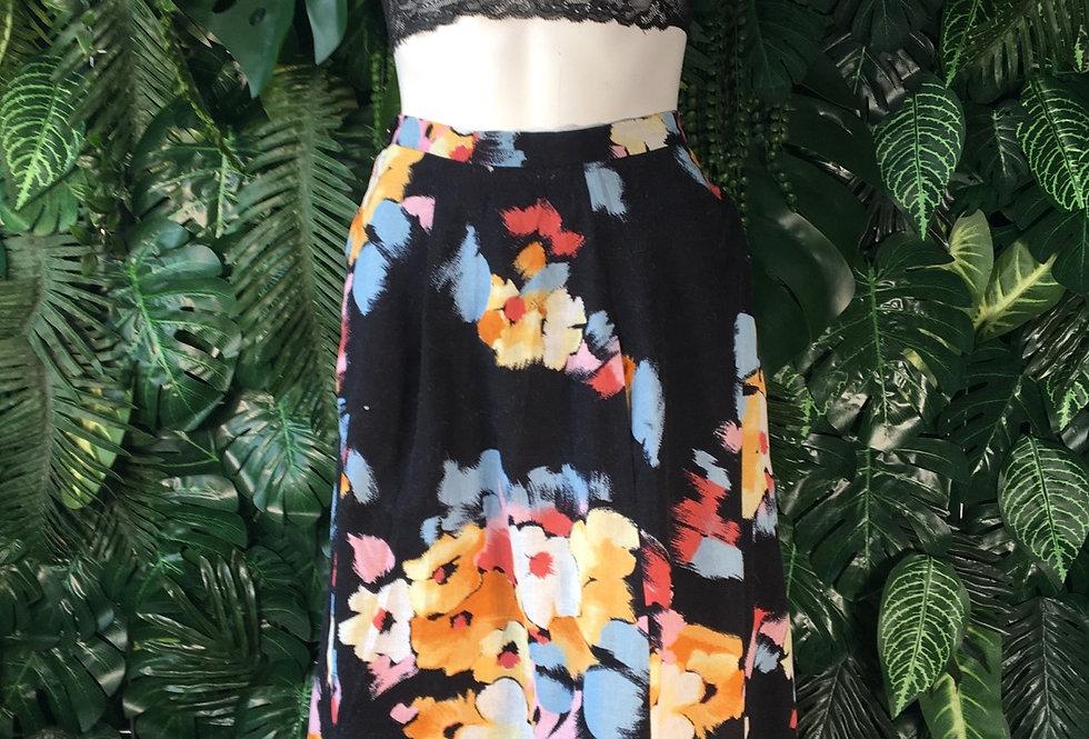 Abstract print skirt (size 40)