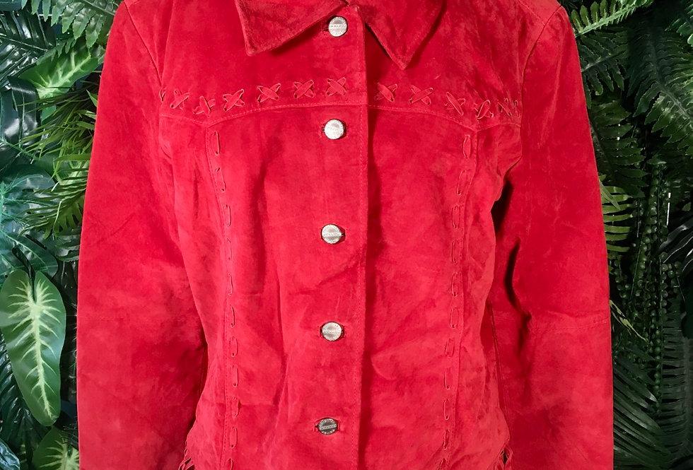 Jou Jou Red Suede Coat (8-10)