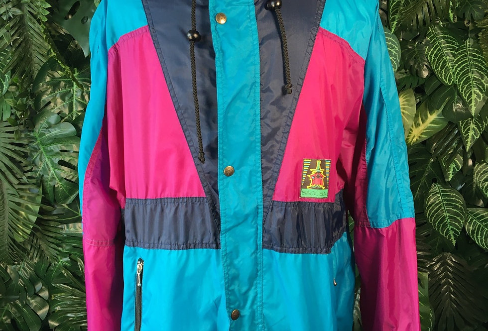Black Sun rain jacket with zip away hood (XL)