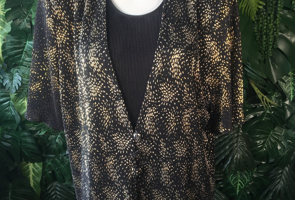 Canad pleated shimmer blouse (size 12)