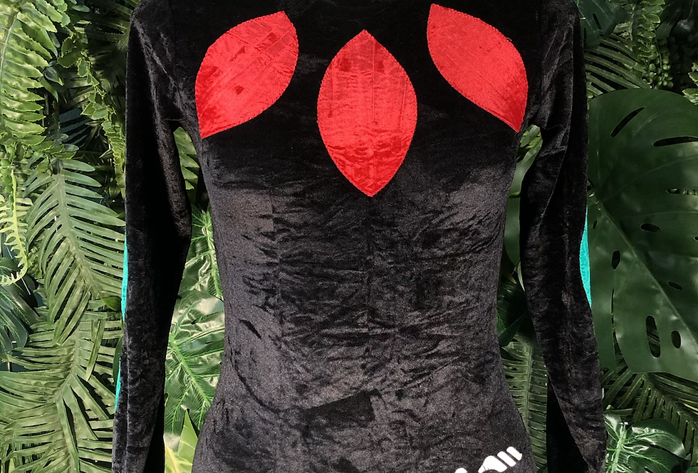 Velour sports body suit