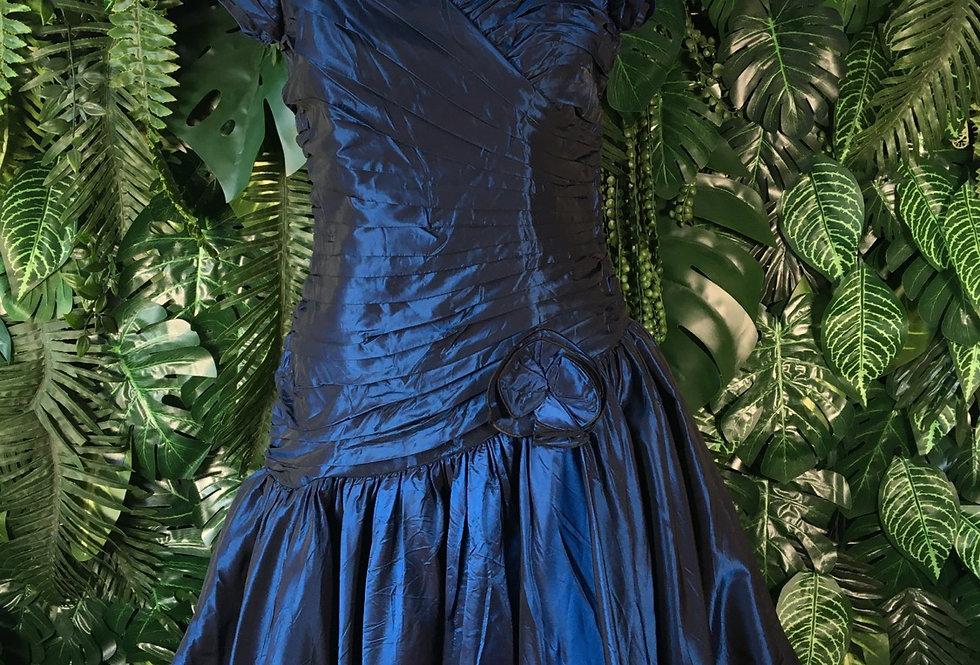 Iridescent blue prom dress (size 14)