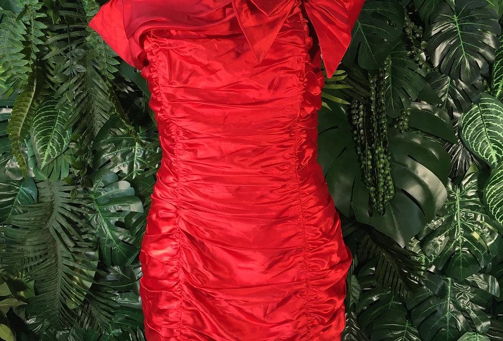 Roberta red satin prom dress (size 10)