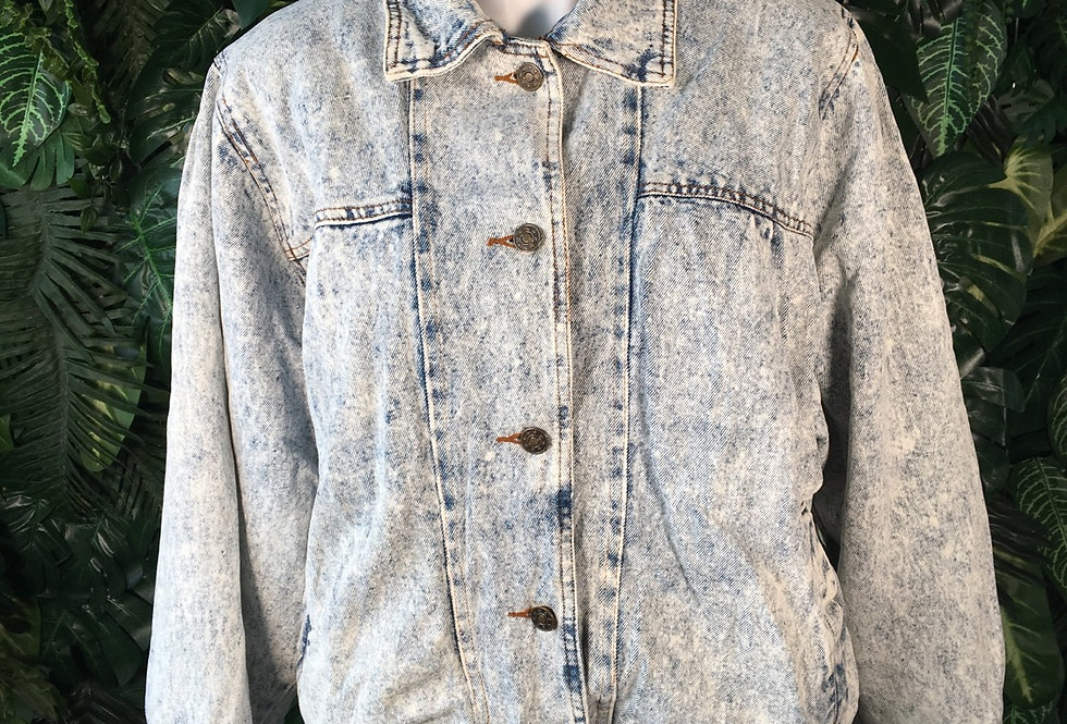 90s acid wash jacket (S)