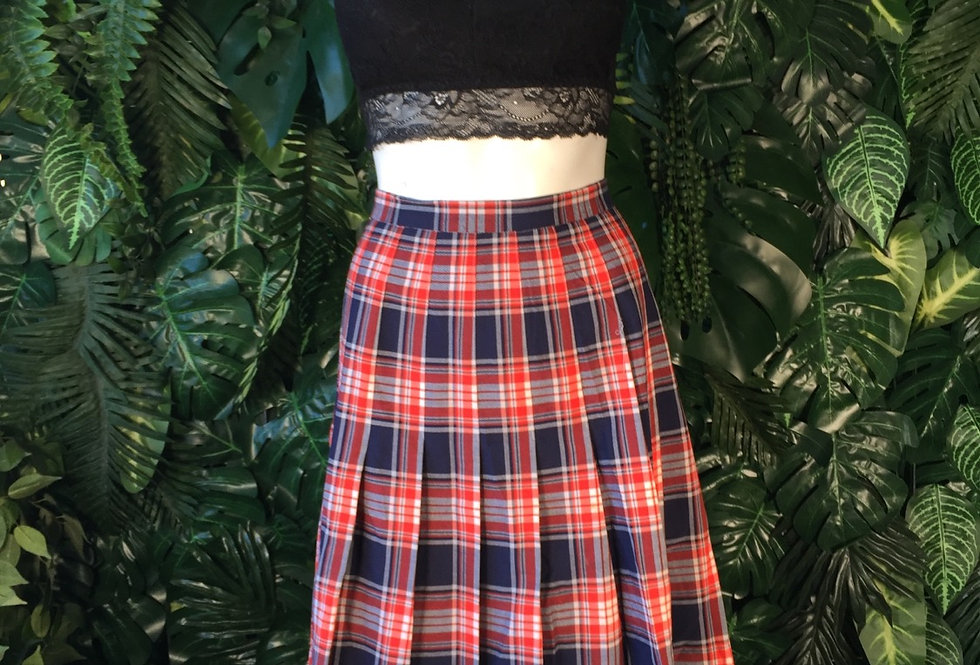 Pleated tartan skirt (size 4028)