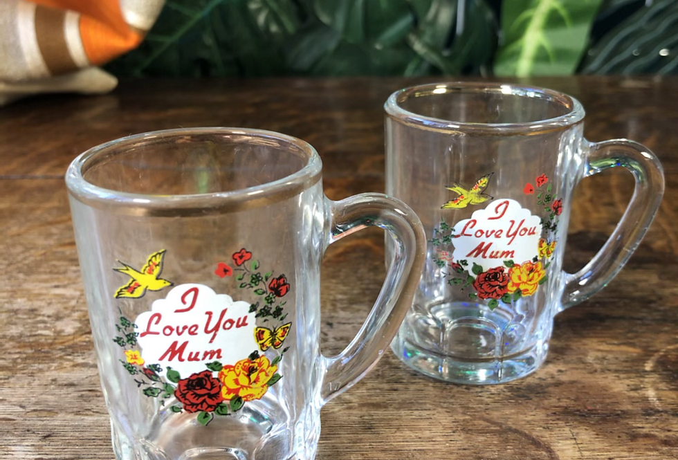 1980s I love you mum shot glasses