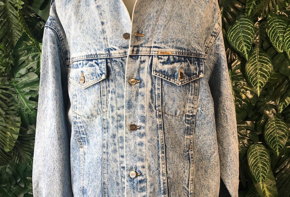 Visco acid washed denim jacket (XXL)