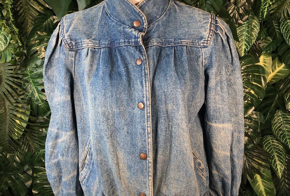 High neck denim jacket (M)