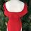 Thumbnail: Red drape shoulder body suit