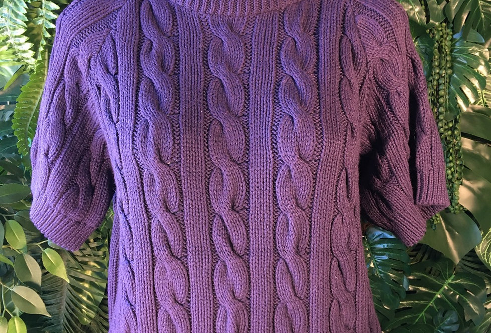 American knitworks cotton cable knit