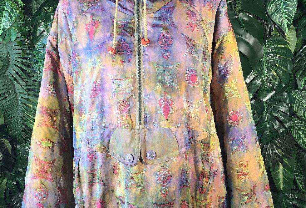 Iridescent 90s ski jacket (size 40)