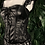 Thumbnail: Black faux leather and lace zip & lace corset