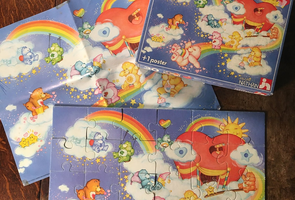 Vintage Care Bears Jigsaw & Poster