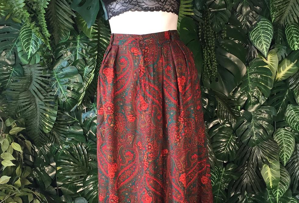 Paisley skirt (size 8-10)