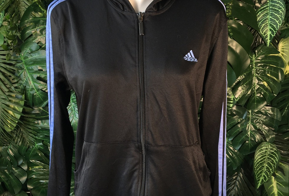 Adidas hooded track top (L)