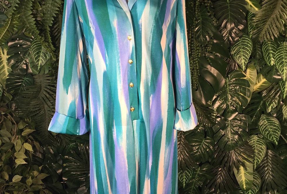 Full length abstract shirt dress (size 16)