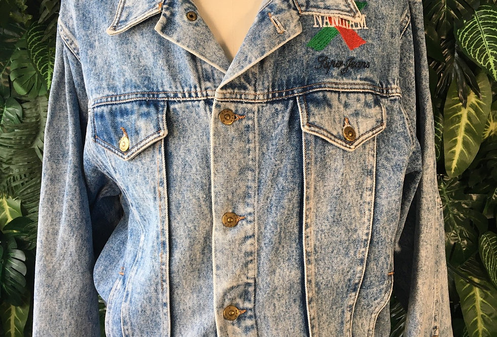 NamNam 90s raw edge denim jacket (S/M)