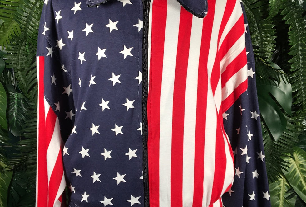 Stars & Stripes Wing Sleeve Track Top (M)