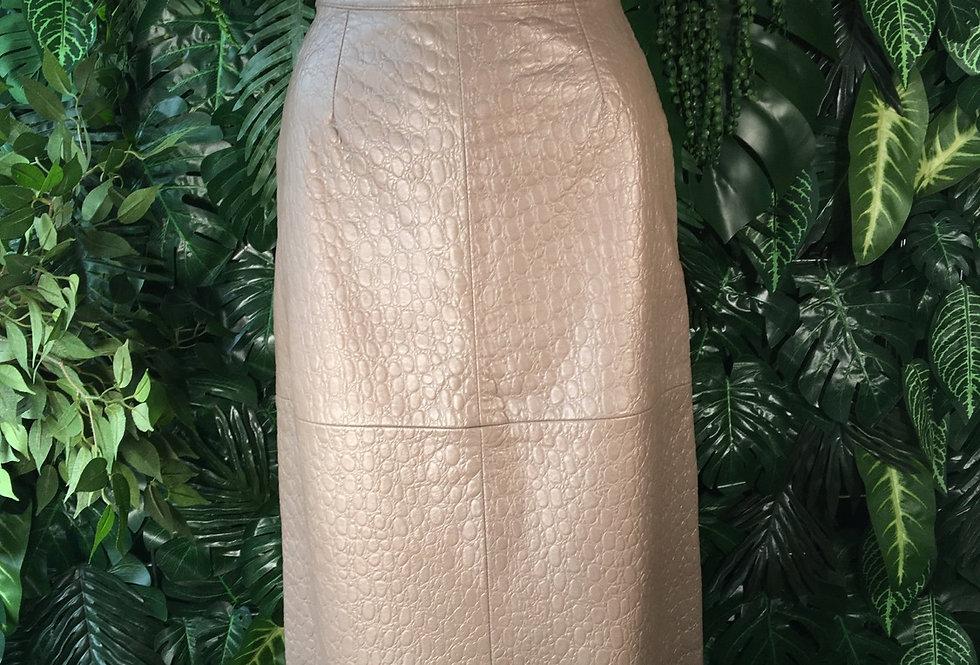 Vera Pelle pebbled leather skirt (size 10)