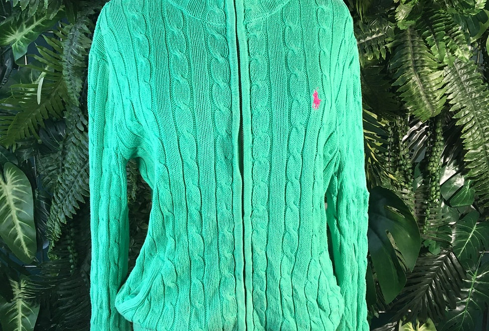 Ralph Lauren Ladies Cable Knit Cardigan (L)