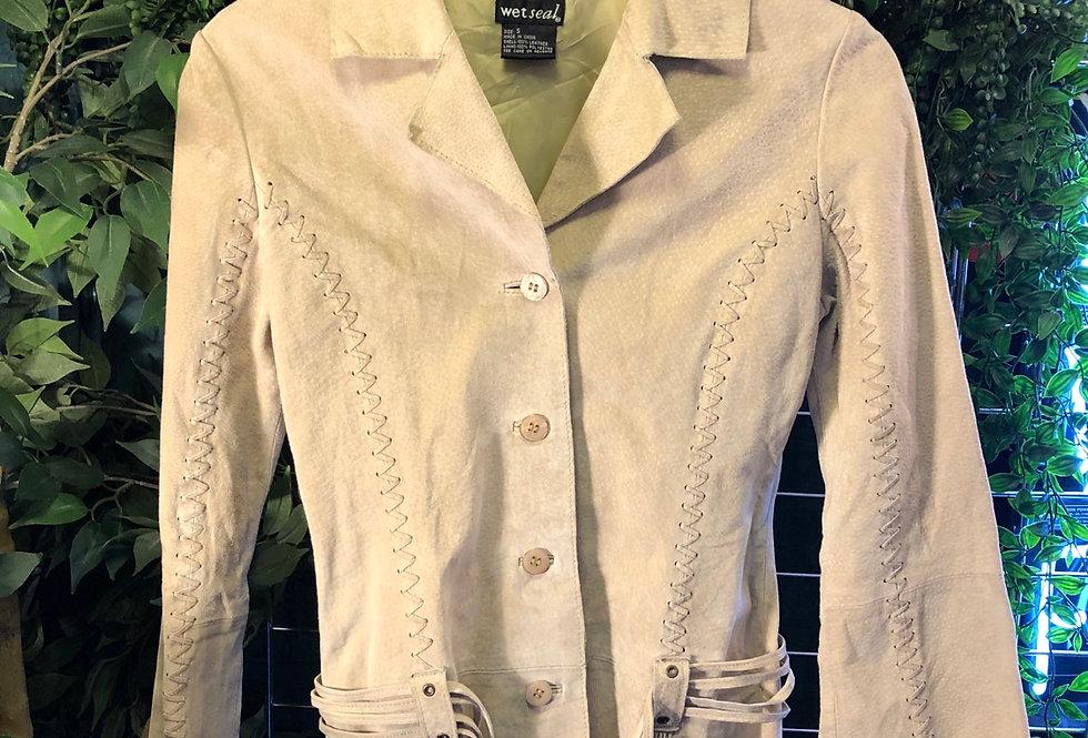 Light tan suede jacket