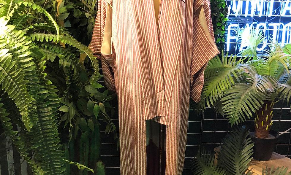 Soft stripe kimono