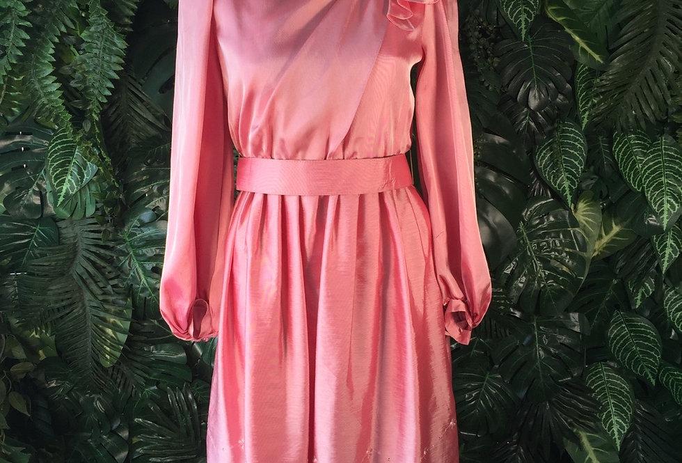 Metallic rose cocktail dress (size 8)