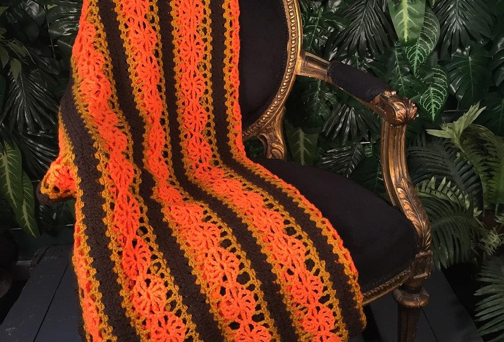 79s vibe hand crocheted blanket