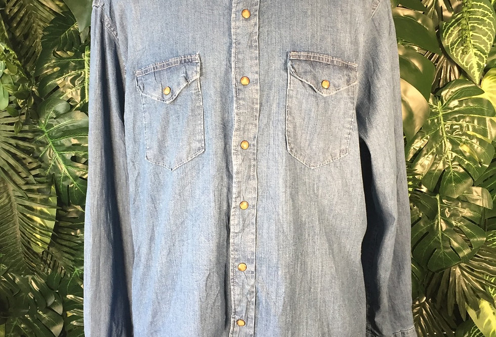 Wrangler classic western denim shirt (XL)