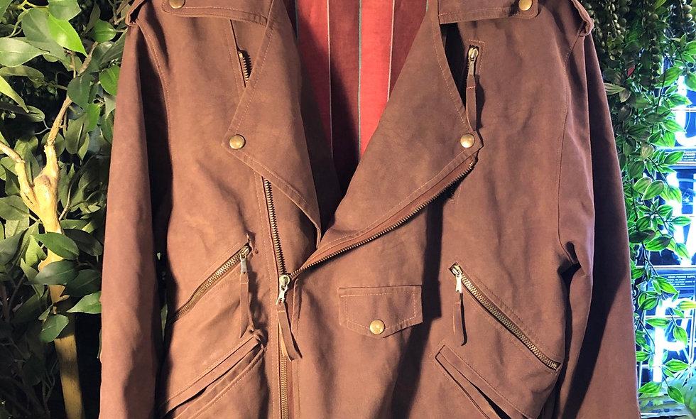 Tassel western biker jacket