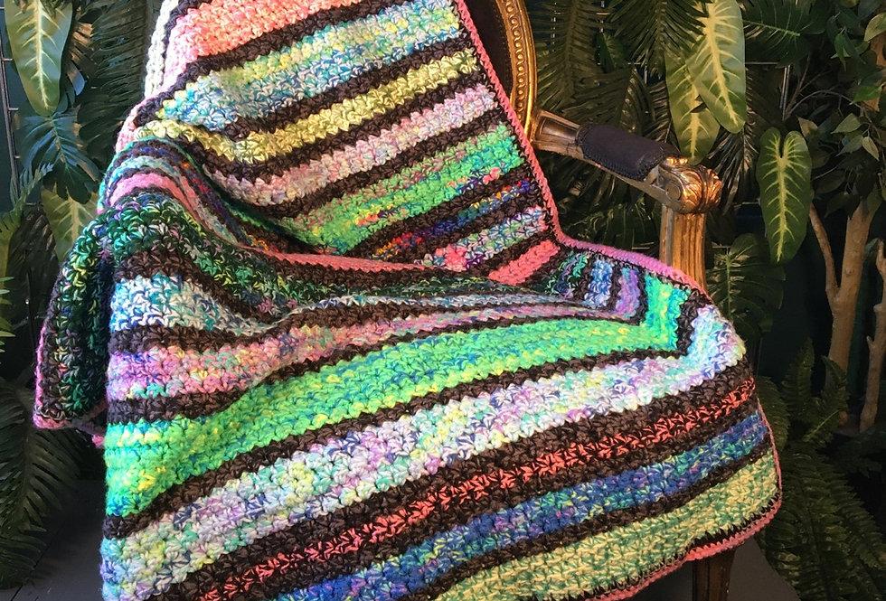 Handmade striped blanket