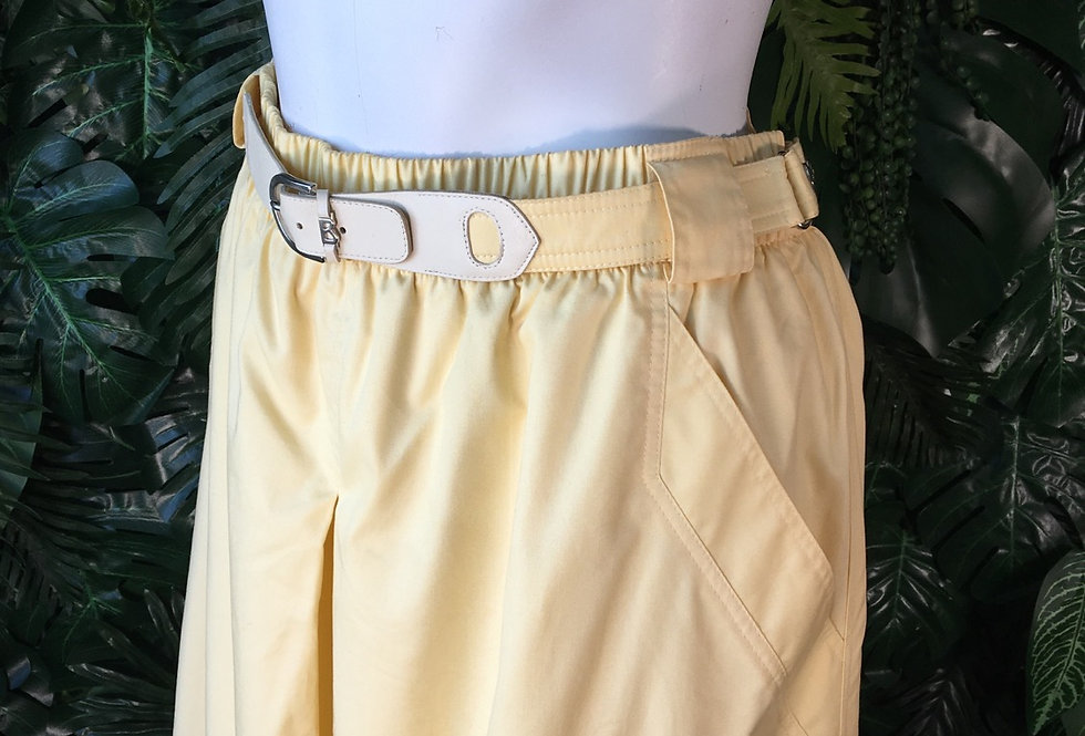 Original Bogner belted yellow skirt with pockets (size 12)