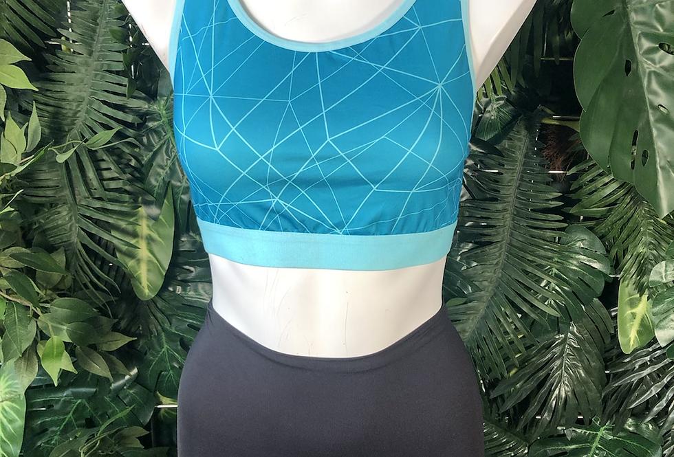 Geometric sports bra