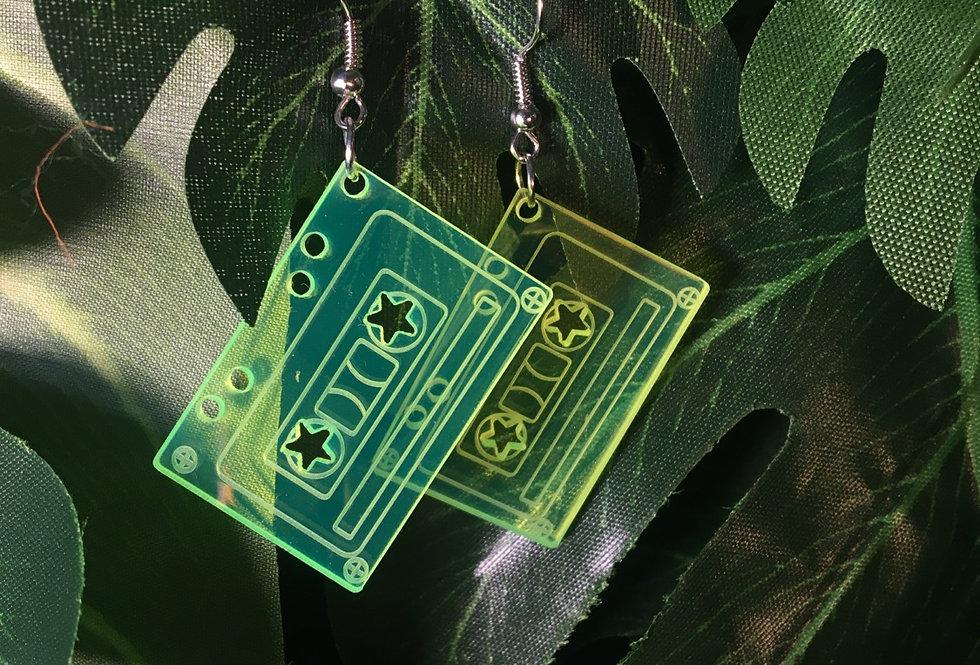 Cassette tape earrings (4 colours)
