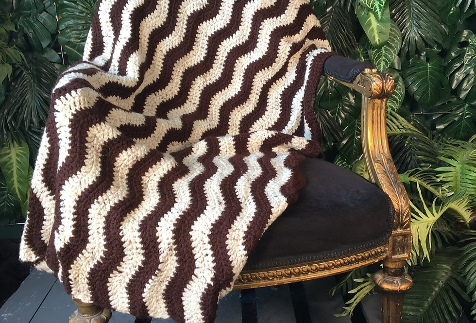 Small hand crocheted blanket