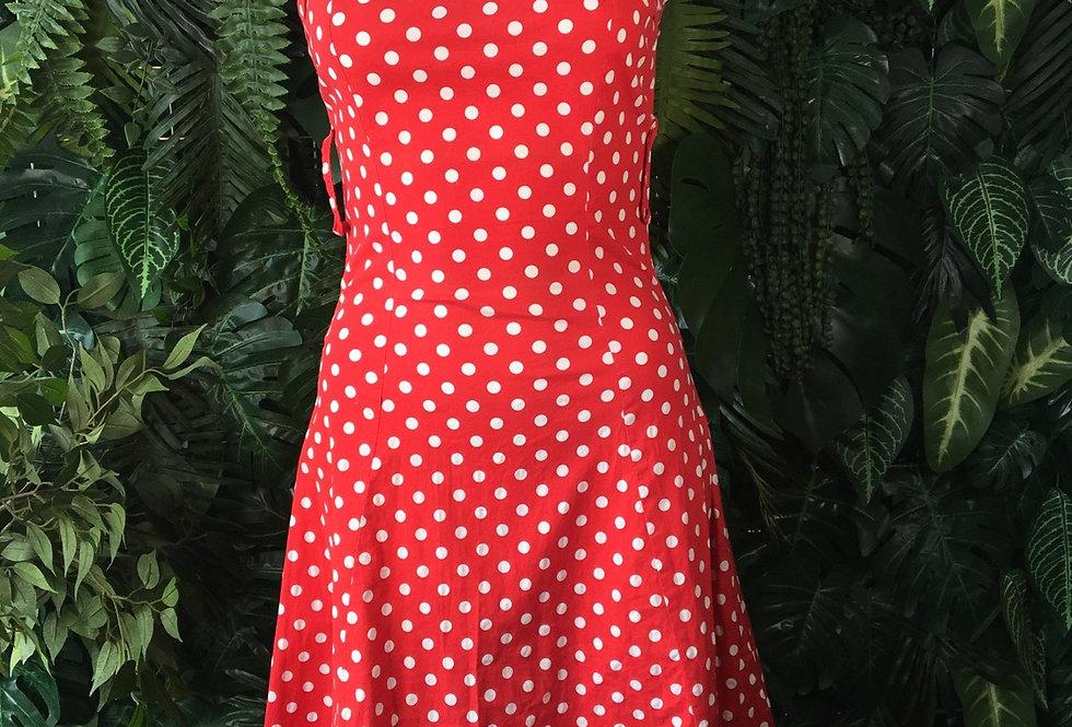 Polkadot sweetheart dress (size 6-8)