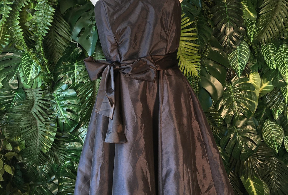 Orsay metallic charcoal party dress (size 36/38)