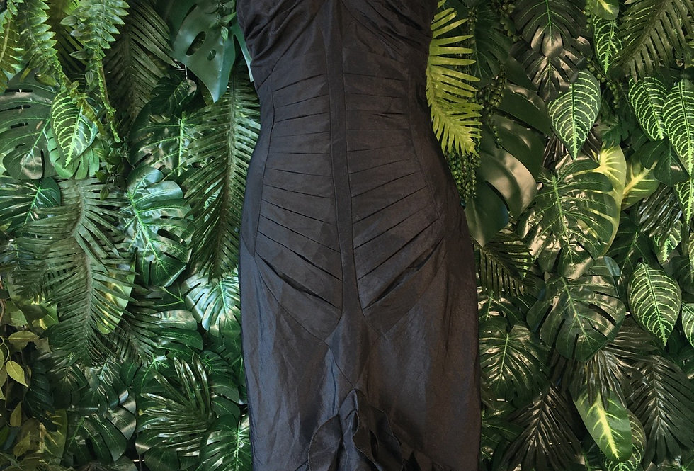 Body con dress with ruffle tail (size 10)