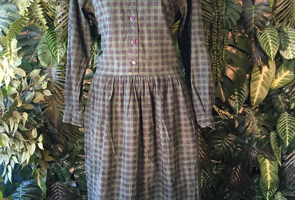 Plaid corduroy dress (size 16)