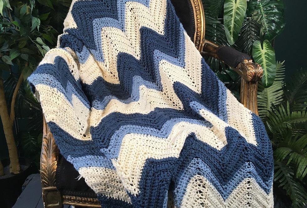 Blue chevron blanket